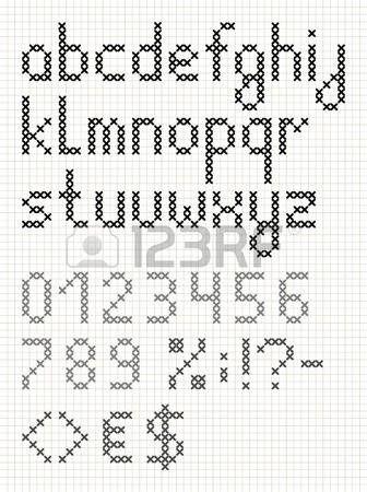 Stock Photo Minik Kanavice Alphabet Point De Croix