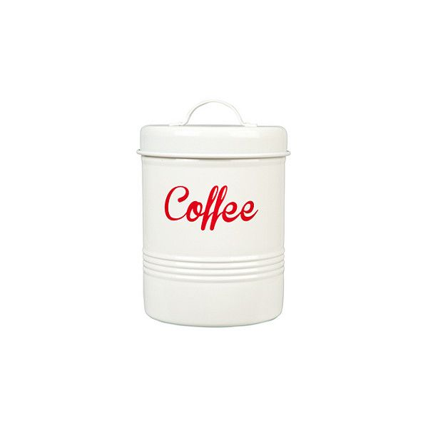 ASDA Bright Printed Coffee Canister 499 liked on Polyvore