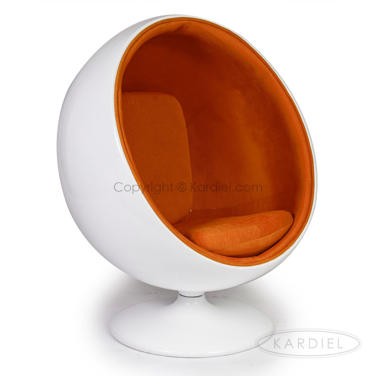 Eero Aarnio Style Ball Chairs On Sale | For | Buy | White Orange |