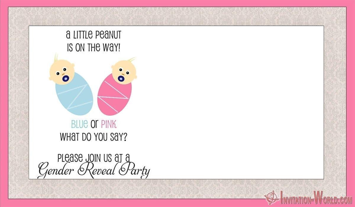 Gender Reveal Invitation Templates Invitation World Gender Reveal Invitations Template Gender Reveal Invitations Printable Party Invite Template
