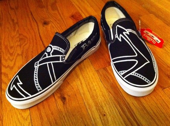e163d7f389 Items similar to Hand Painted Shoes - Anchor Vans on Etsy