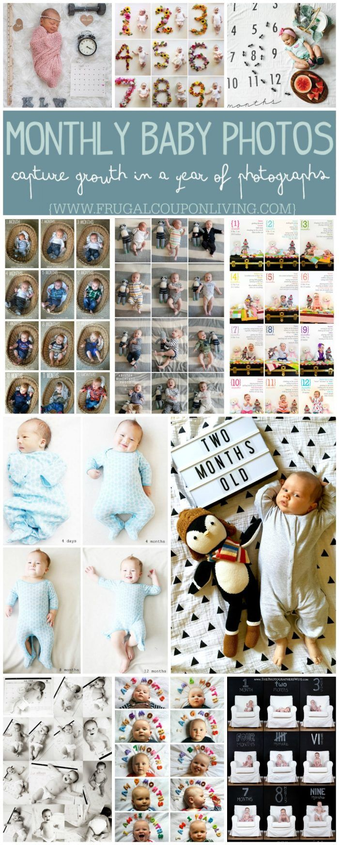 Monthly Baby Photo Ideas Track Your Baby S Age In Photos Best Of Frugal Coupon Living Monthly Baby Photos Baby Month By Month Baby Photos