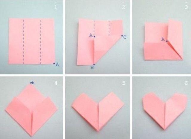 Открытки пожеланием, как сделать из бумаги открытку с сердцем оригами