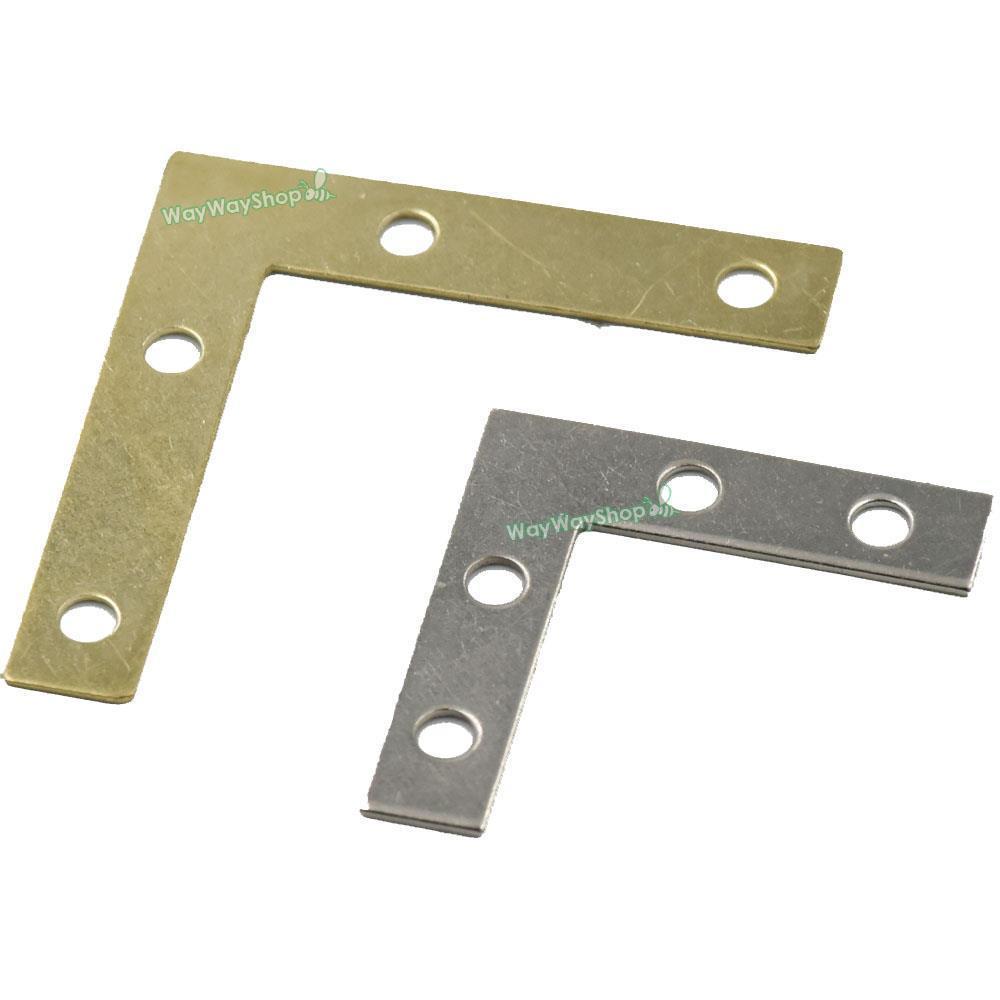 $3.25 - Flat Braces L Shape Angle Brackets Mirror Frame Corner Fix ...