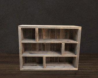 Reclaimed Wood Media Console With Storage Por AtlasWoodCo En Etsy