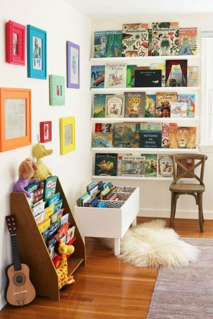 49 Diy Bookshelves For Storage Ideas In Bedroom Homiku Com Colorful Kids Room Reading Corner Kids Kids Playroom