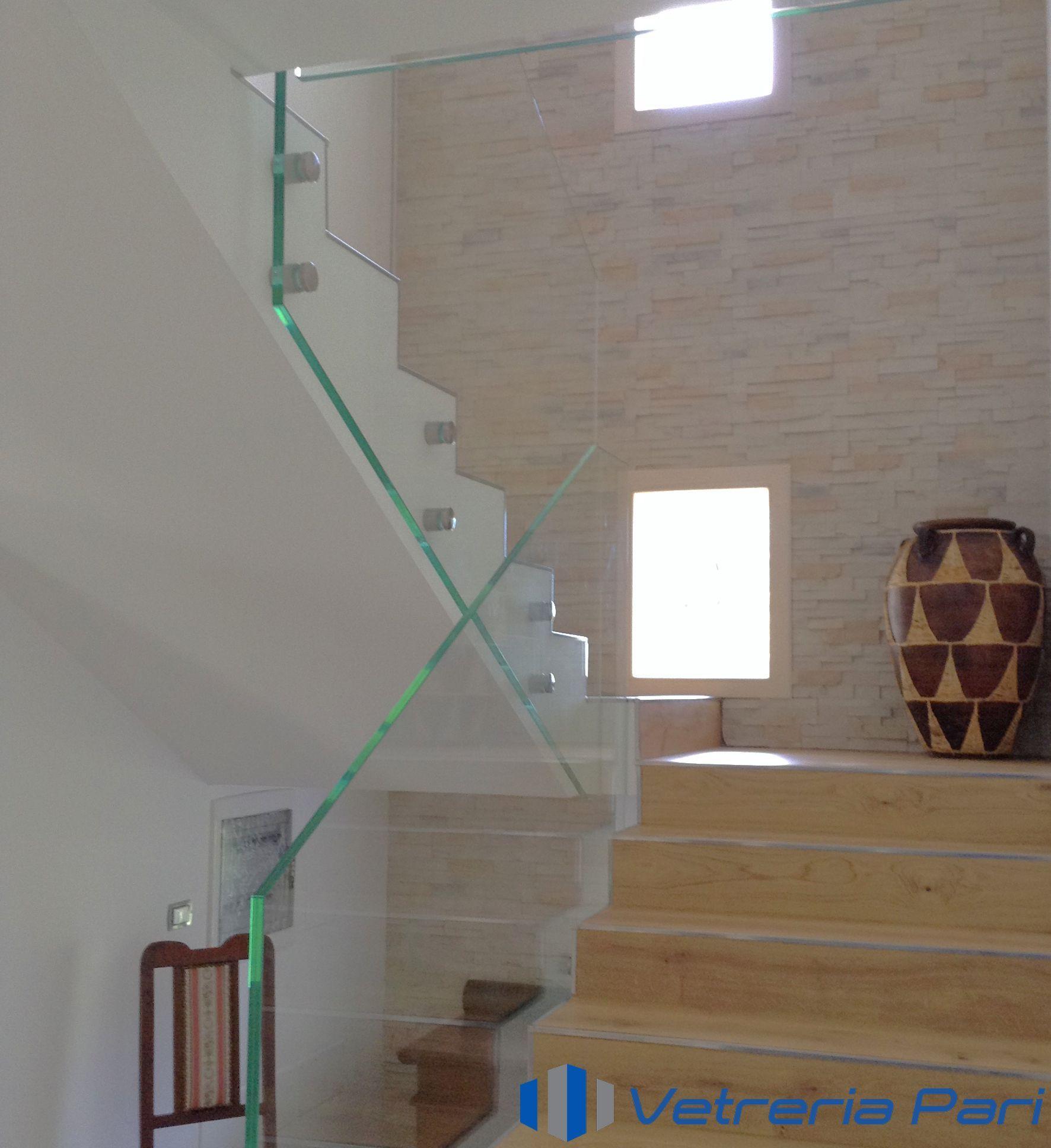 Parapetti In Vetro Per Interni la vetreria pari realizza parapetti in vetro per interni su