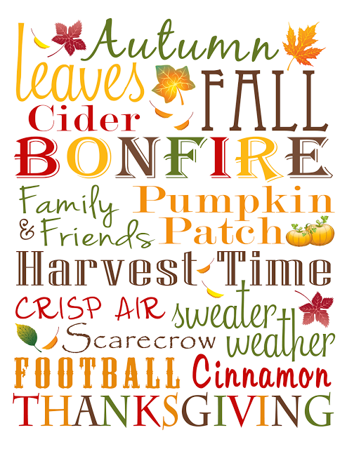 image about Autumn Printable named absolutely free drop printables The Kurtz Corner: Drop Subway Artwork