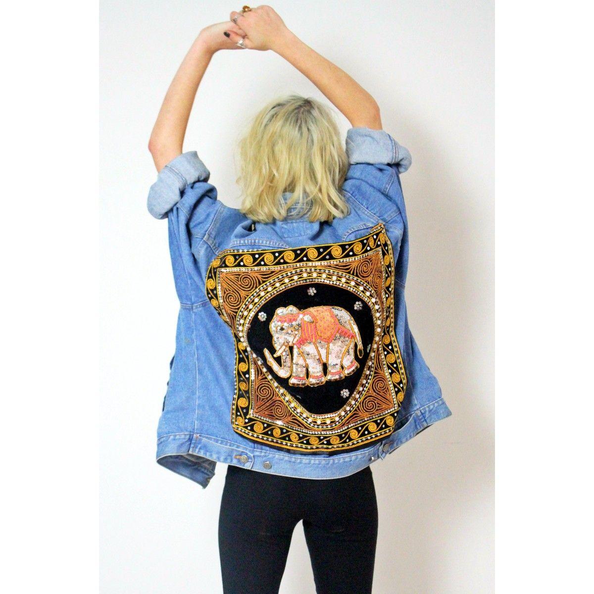 WE KOKO Fashion   Delinquent Denim Elephant Jacket   Top Fashion ...