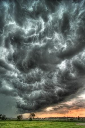Storm clouds north of Warsaw, Indiana by iva