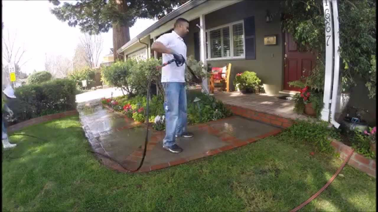 Pressure Washing Sidewalk In San Jose Ca With Images Pressure Washing Pressure Washing Services Cleaning Gutters
