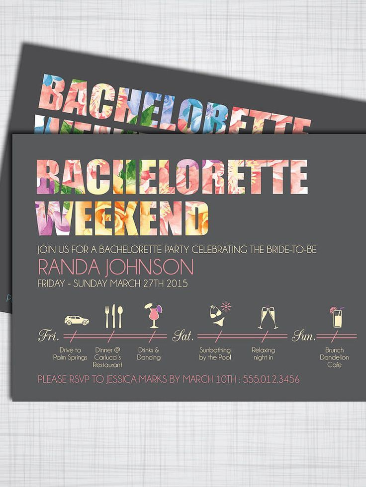 14 DIYable Bachelorette Party Invitation Templates | Party ...