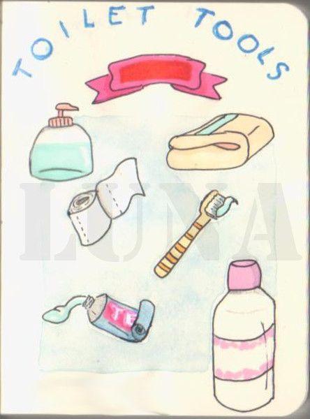 #miniature #drawing of #toilet tools #mini #small # ...