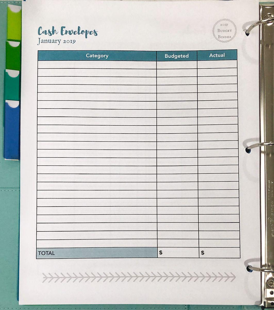 Creating Your Budget Binder