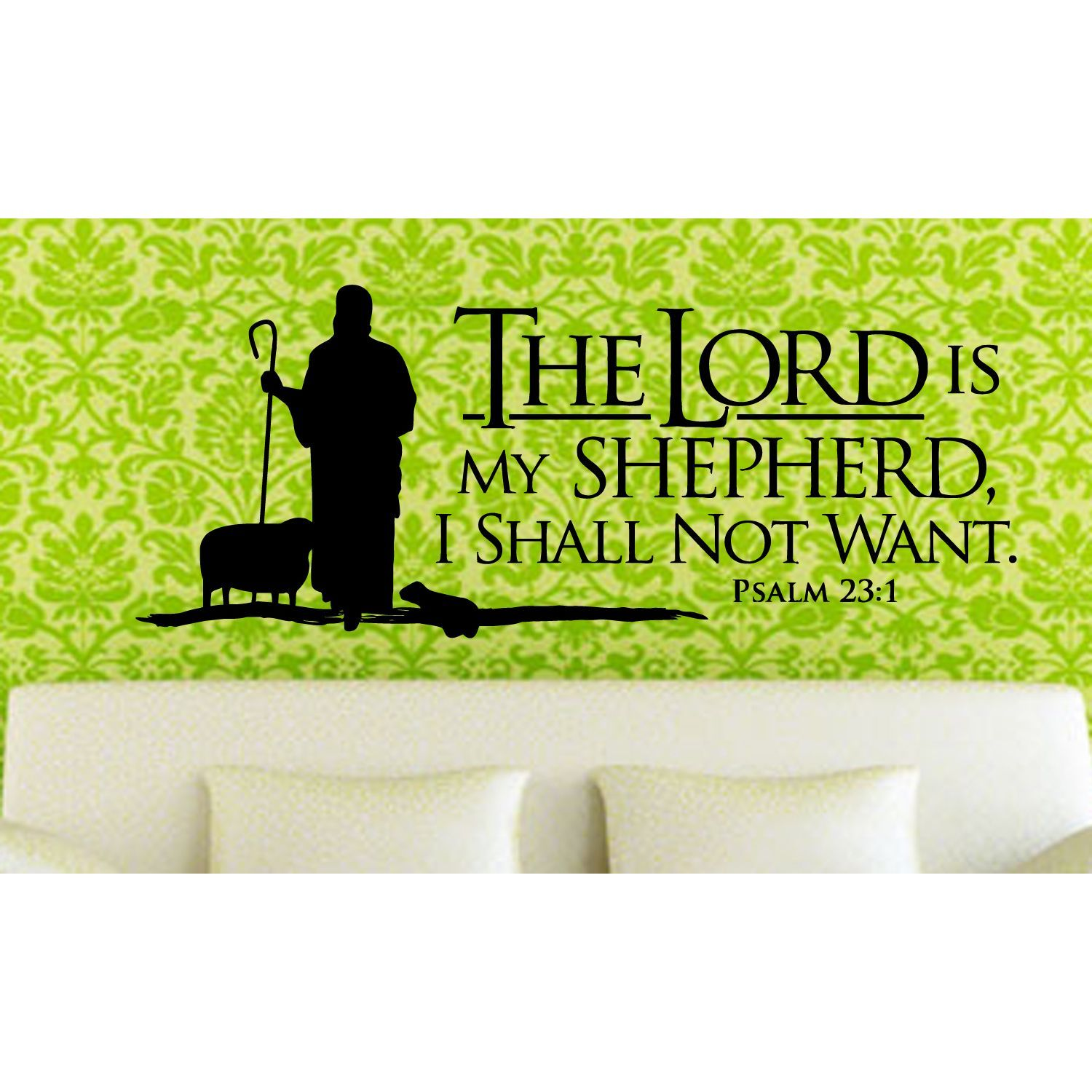 Online Shopping Bedding Furniture Electronics Jewelry Clothing More Wall Art Quotes Psalms Lord Is My Shepherd