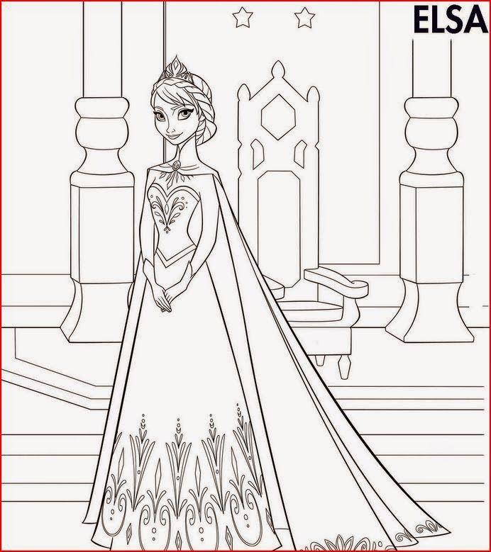 Princess Elsa boyama