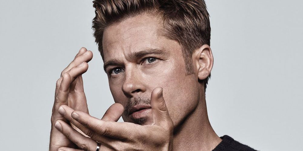 The Brad Pitt Haircut Has Long Been Synonymous With Exceptional Good Looks And Cool Styles Whether Pitt Is Styling Brad Pitt Haircut Brad Pitt Brad Pitt Hair
