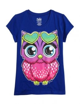 ff31967a Shop Glitter Owl Graphic Tee and other trendy girls graphic tees clothes at  Justice. Find the cutest girls clothes to make a statement today.