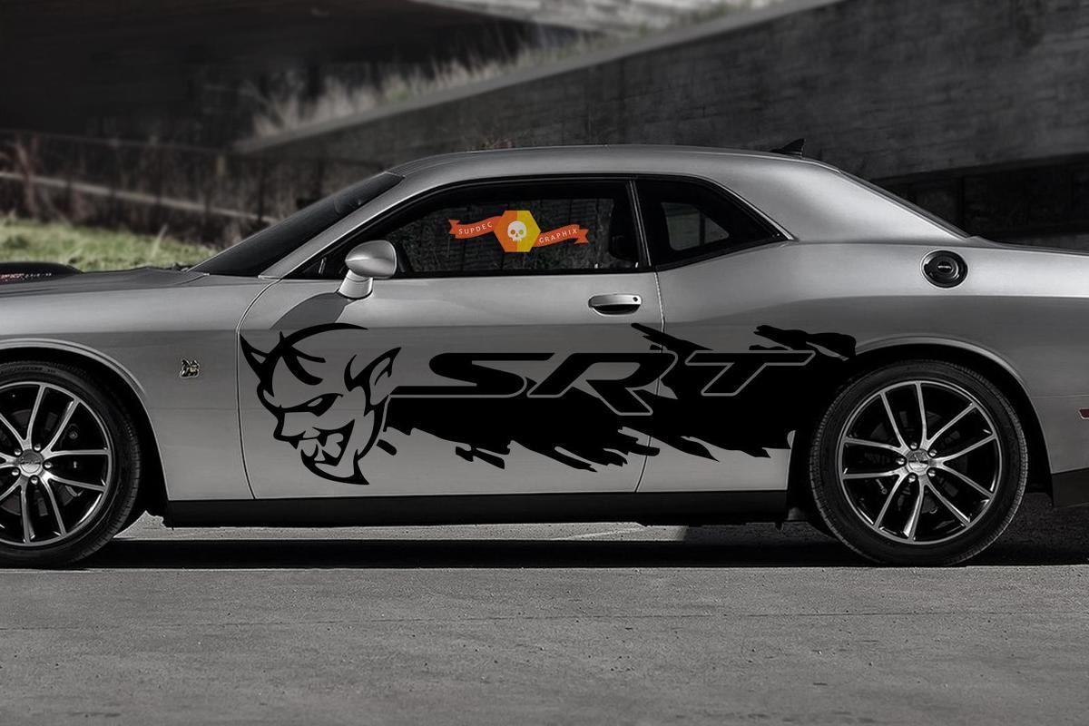 Dodge Hell Cat HellCat Mopar SRT Vehicle Graphic Decal Side Charger Sticker