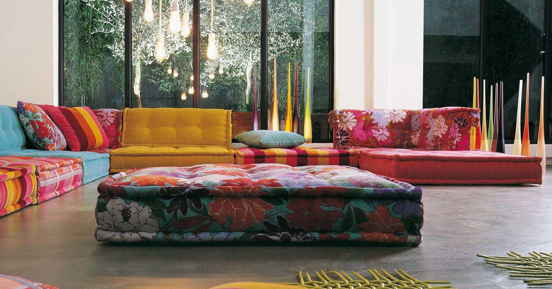 Designed by Hans Hofer the Roche Bobois Mah Jong Modular Sofas are