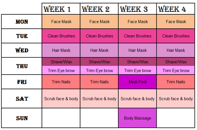 Beauty Routine Time Table Simple, Effective & Fun