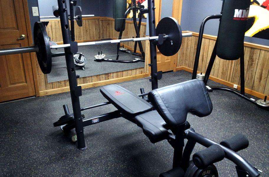 """3/8"""" SportLock Rubber Tiles Rubber tiles, Home gym"""