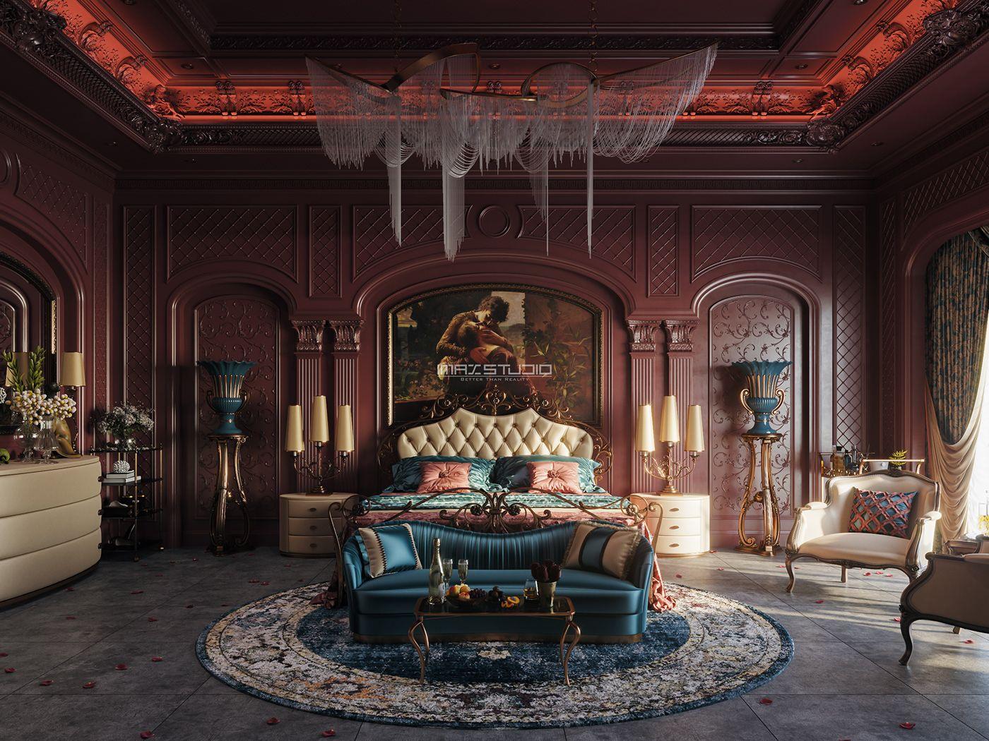 Incredible Maroon Bedroom Decor