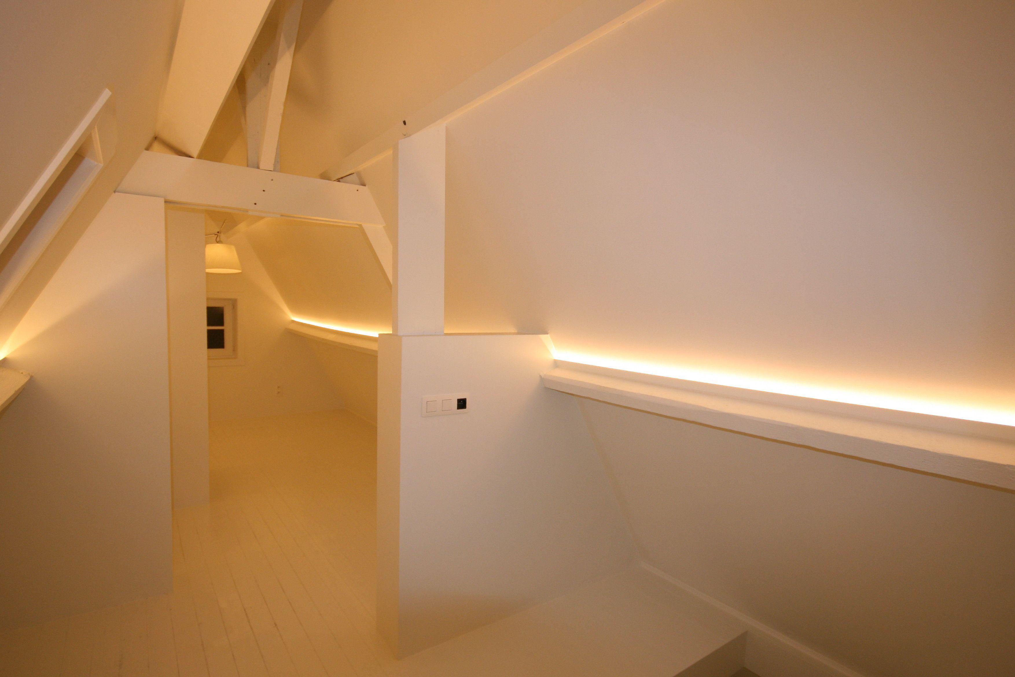 een zolder met indirecte verlichting in led onze On zolder verlichting