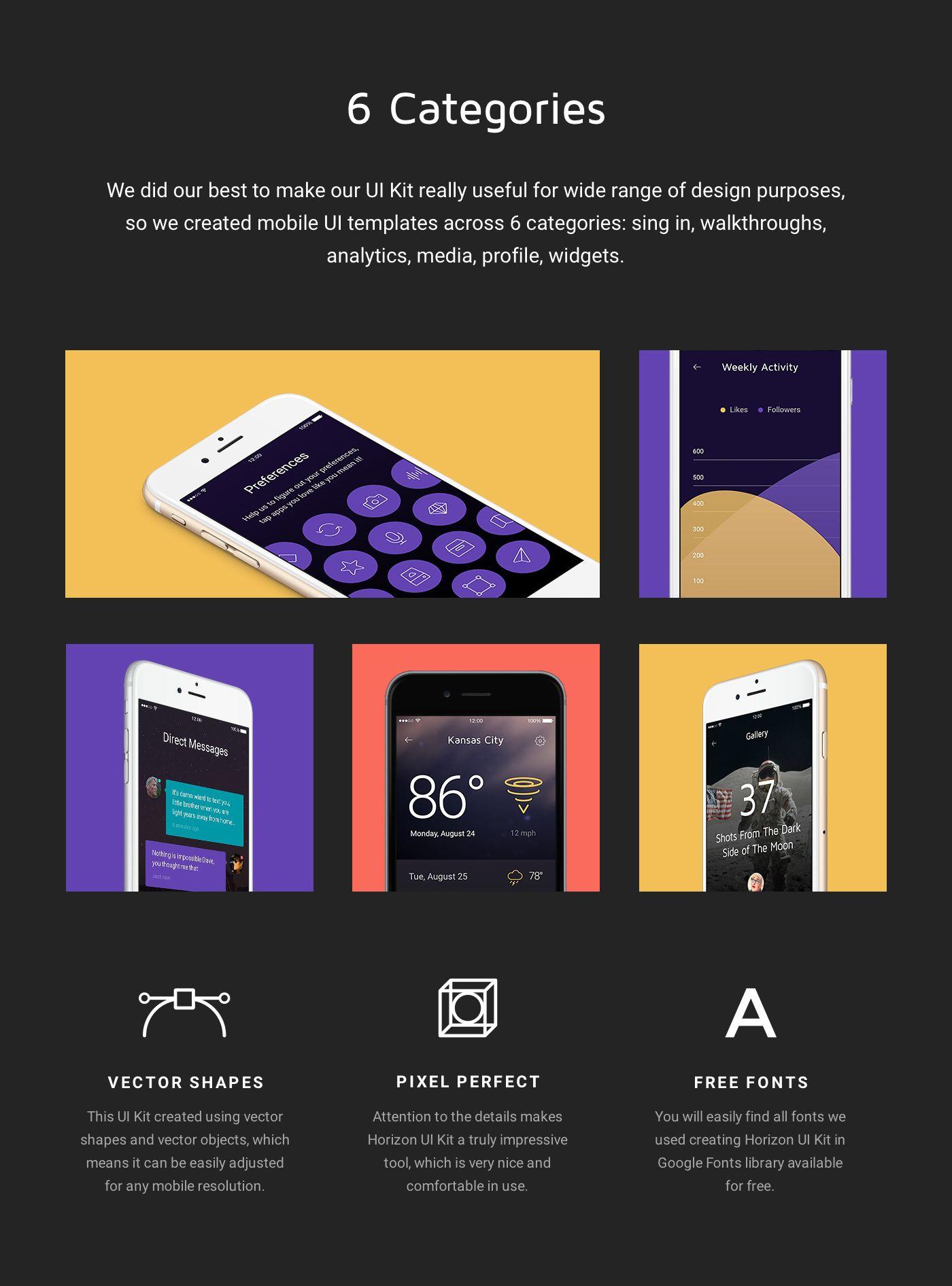 A premium set of 50 iOS mobile app templates across six