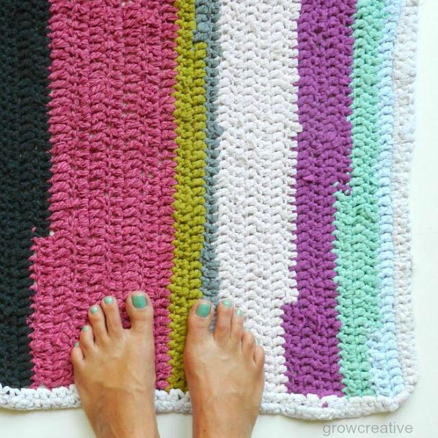 Grow Creative: Crochet ECO T-Shirt Rug Pattern.   Fun & Crafty DIYs ...
