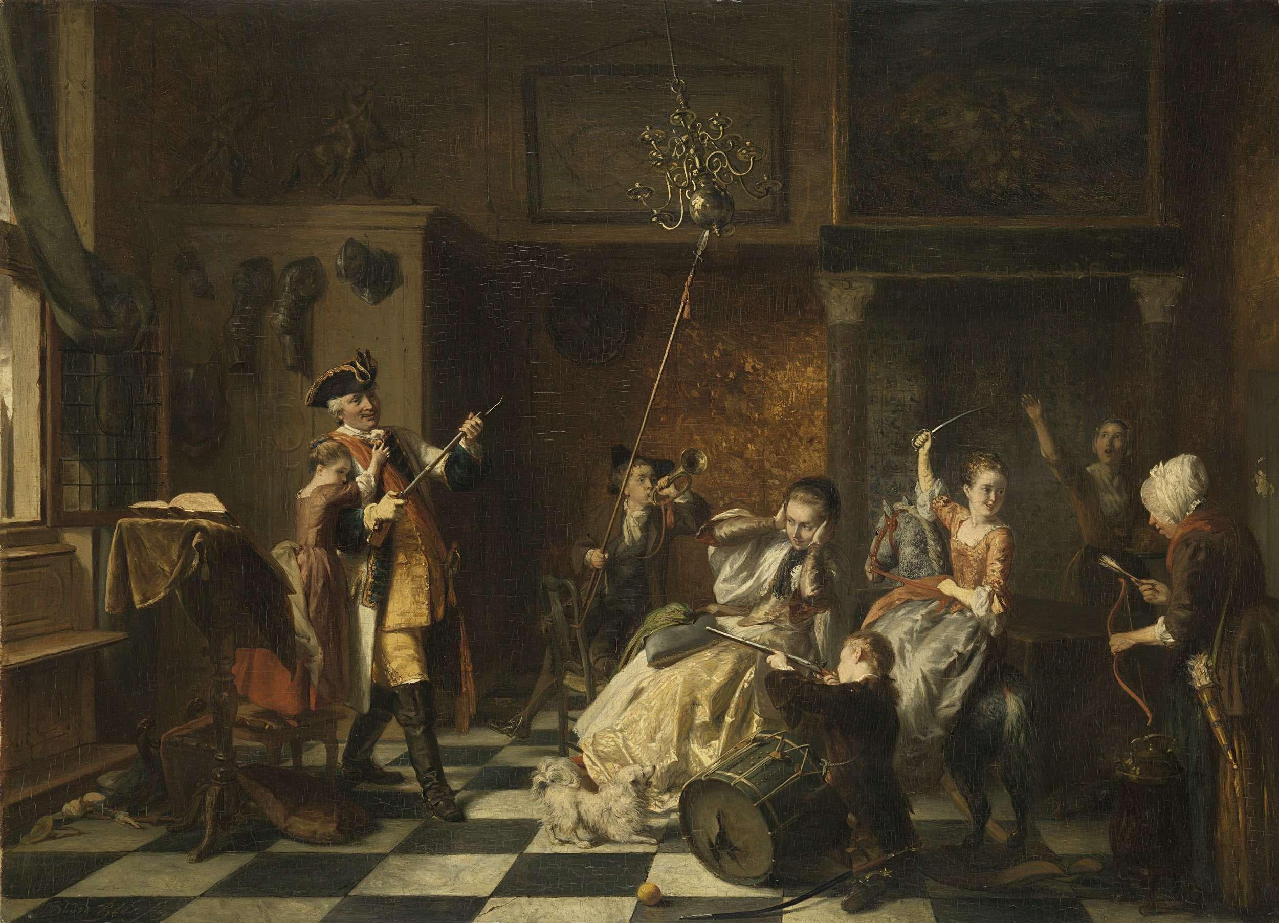 De Vadermoorders Het Wil Al Muizen Wat Van Katten Komt David Bles 1869 Rembrandt Paintings Rembrandt Night Watch Baroque Painting