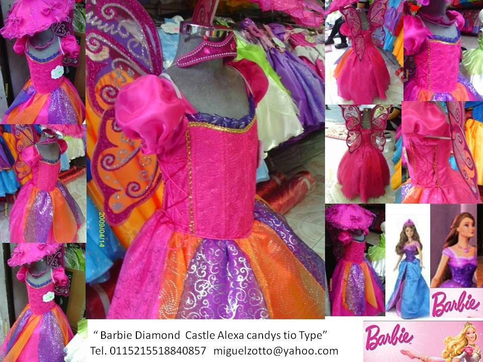 Barbie A Diamond Castle Costume Fairy Butterfly Disney Liana