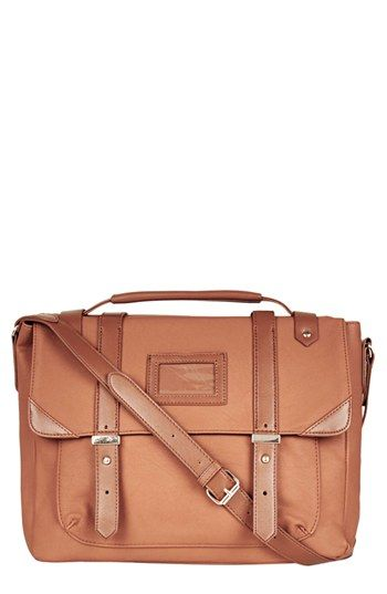 Topshop 'Arthur' Faux Leather Satchel available at #Nordstrom