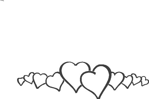 Hearts In A Line Clip Art At Free Clip Art Clip Art Borders Heart Clip Art