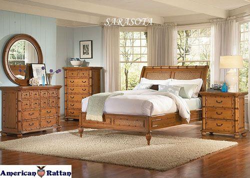 Sarasota Wicker Bedroom Suite | Capris Furniture Bedroom ...