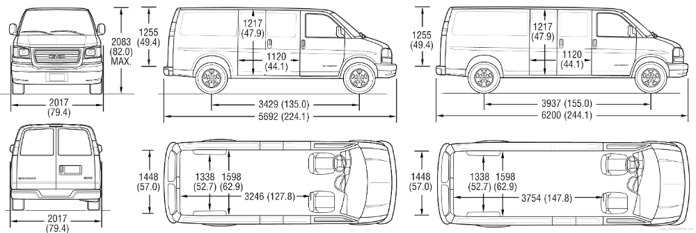 Superb Cargo Van Interior Dimensions 3 Chevy Express Cargo Van Dimensions In 2020 Cargo Van Cargo Van Conversion Chevy Express