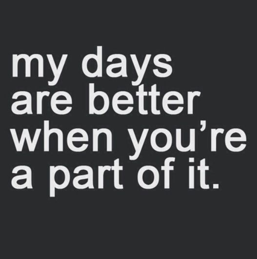 Days are the best not better