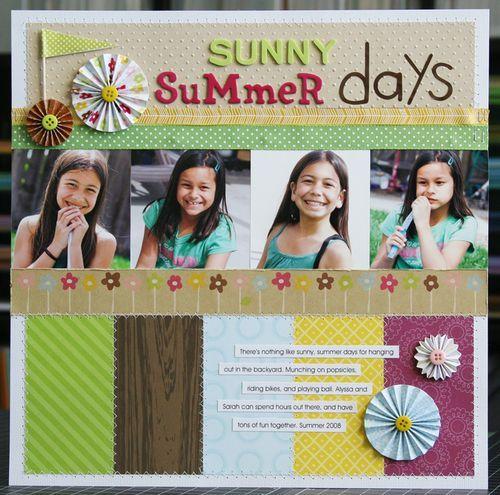 Sunny summer days scrapbook layout