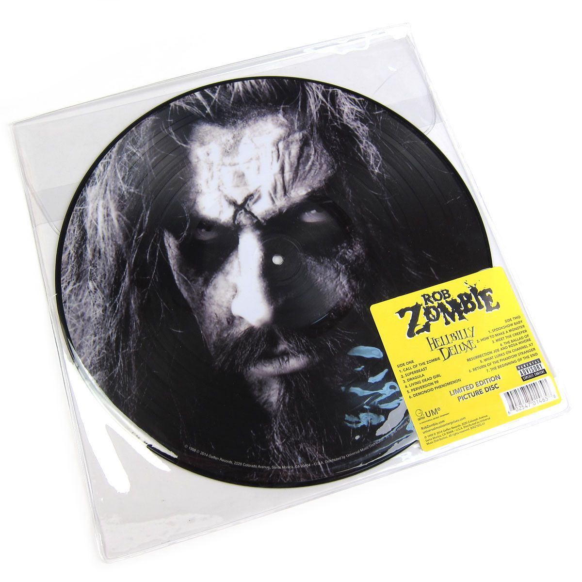 Rob Zombie Hellbilly Deluxe Limited Edition Picture Disc Vinyl Lp Rob Zombie Zombie White Zombie