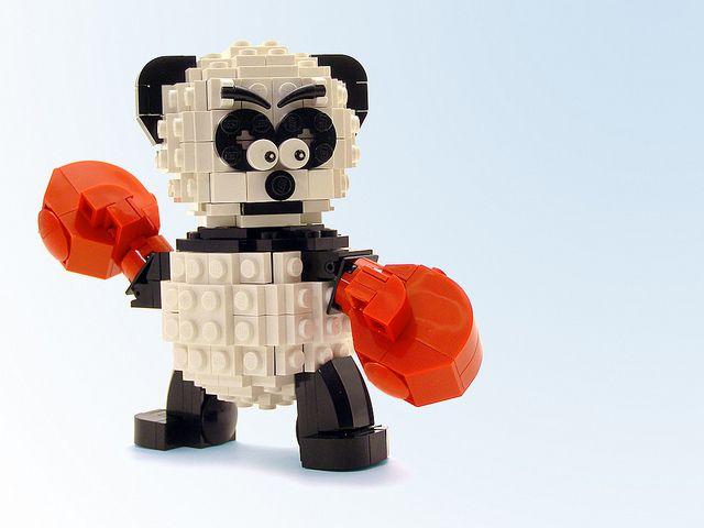 Boxing Panda | Panda, Lego and Legos