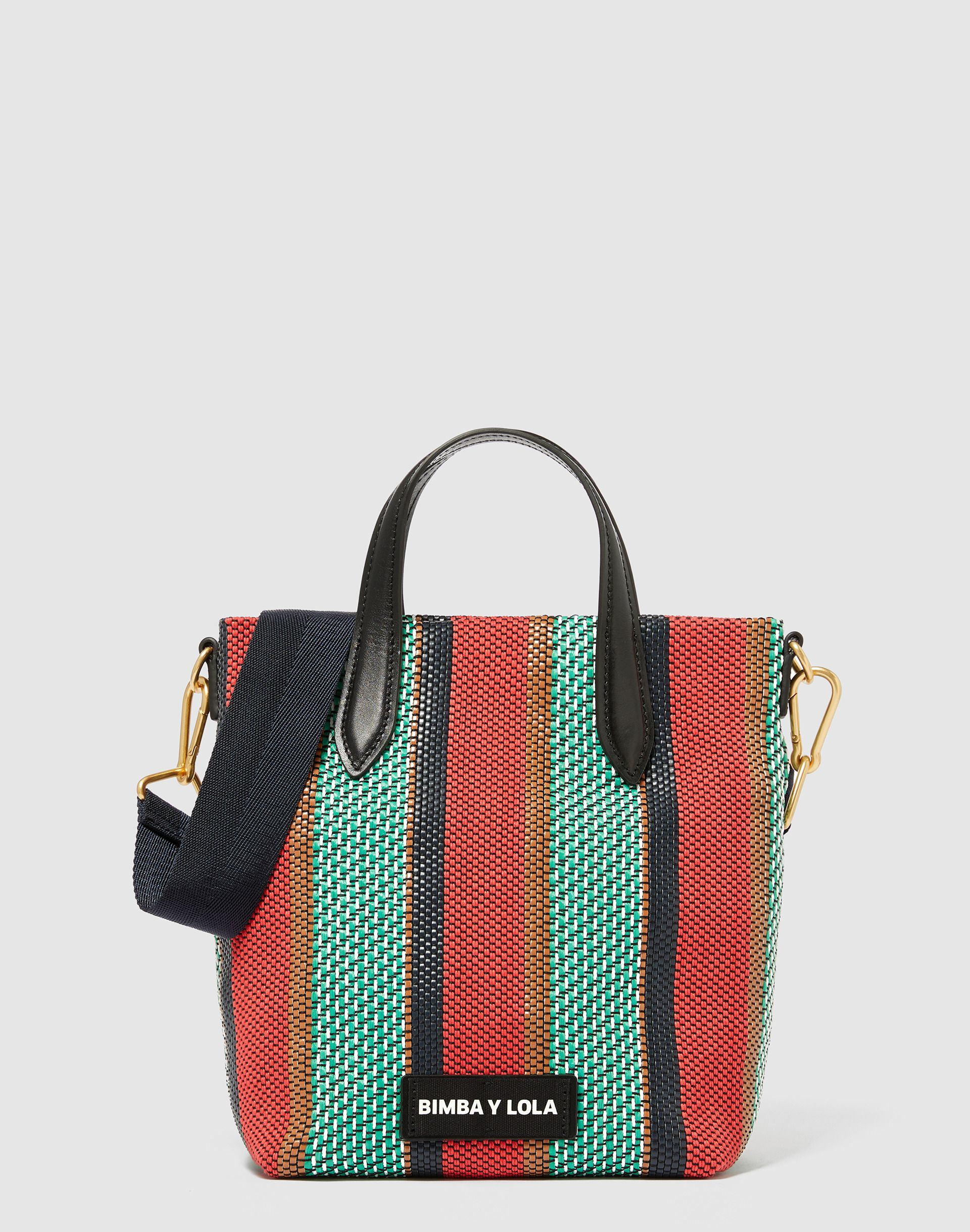 ceaa70770ab6 Bolso shopper vertical trenzado verde | Fashion | Bolso shopper ...