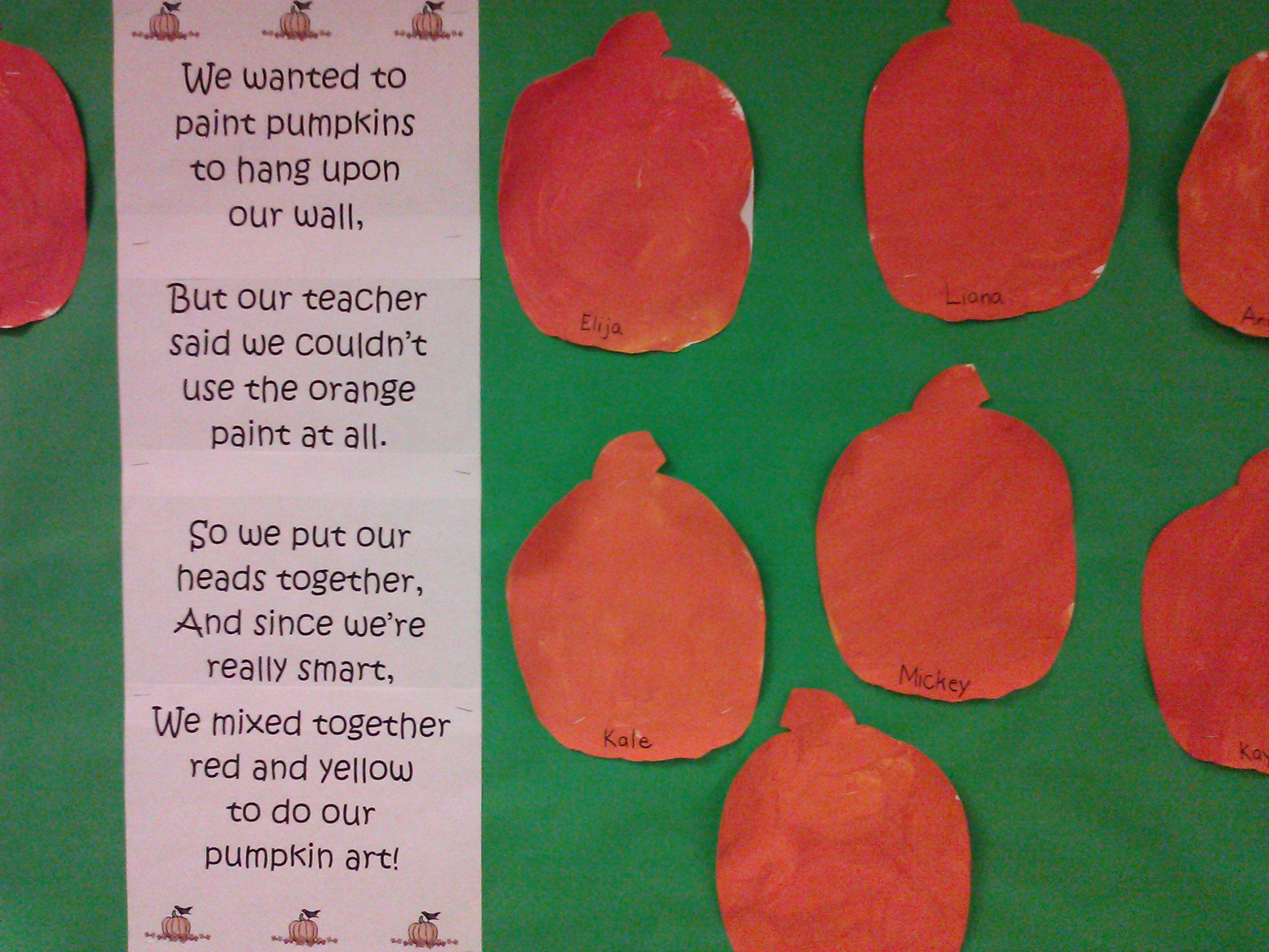 Cute Pumpkin Poem From The Mailbox Magazine
