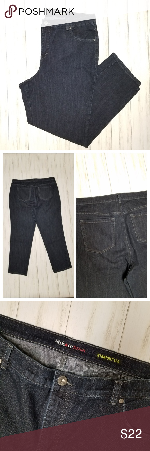 4dff09f37f53b Style   Co. Denim straight leg jeans sz 18W Style   Co. Denim straight leg  dark wash jeans sz 18W 29