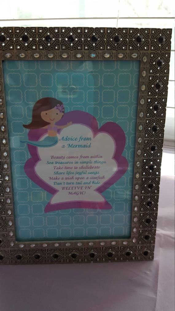 Mermaid sign | Advice from a mermaid sign | Mermaid party #mermaidsign