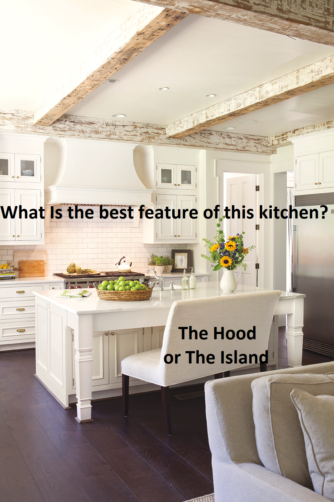 Many different things go into designing the kitchen of your dreams ...