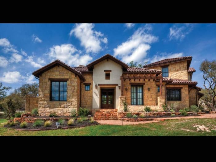 Tuscan meets texas hill country style san antonio home Custom home plans texas