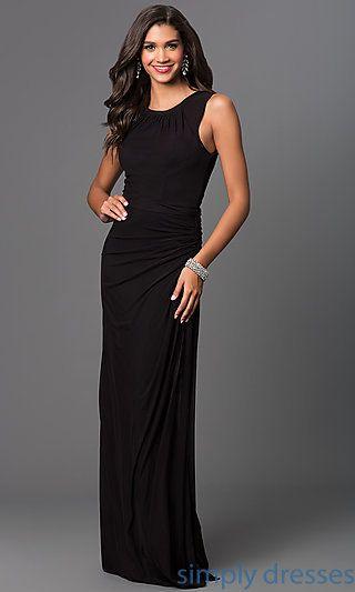 Floor Length Sleeveless Ruched Formal Dress Wedding Info