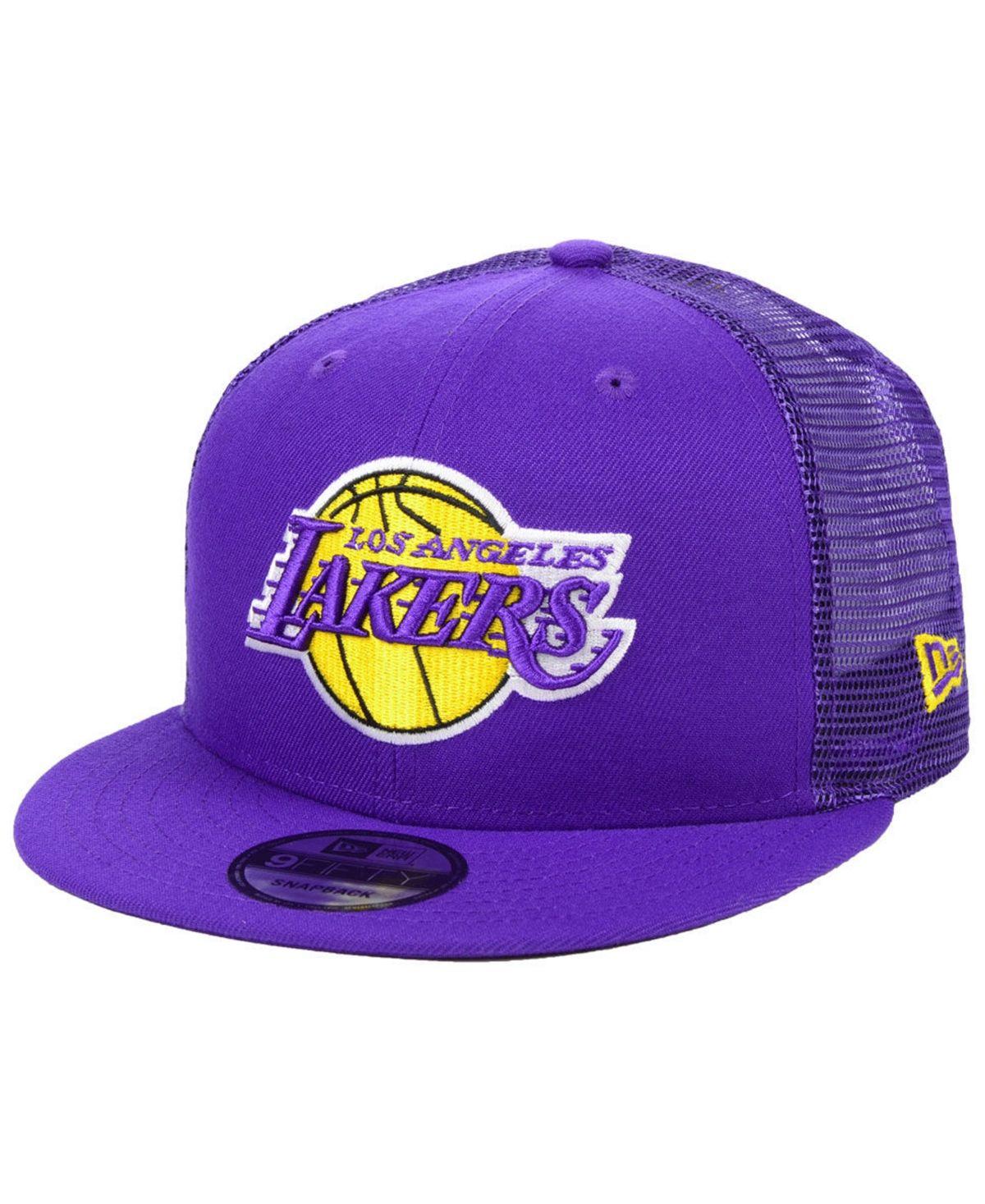 New Era Los Angeles Lakers Nothing But Net 9fifty Snapback Cap Purple Snapback Cap Los Angeles Lakers New Era