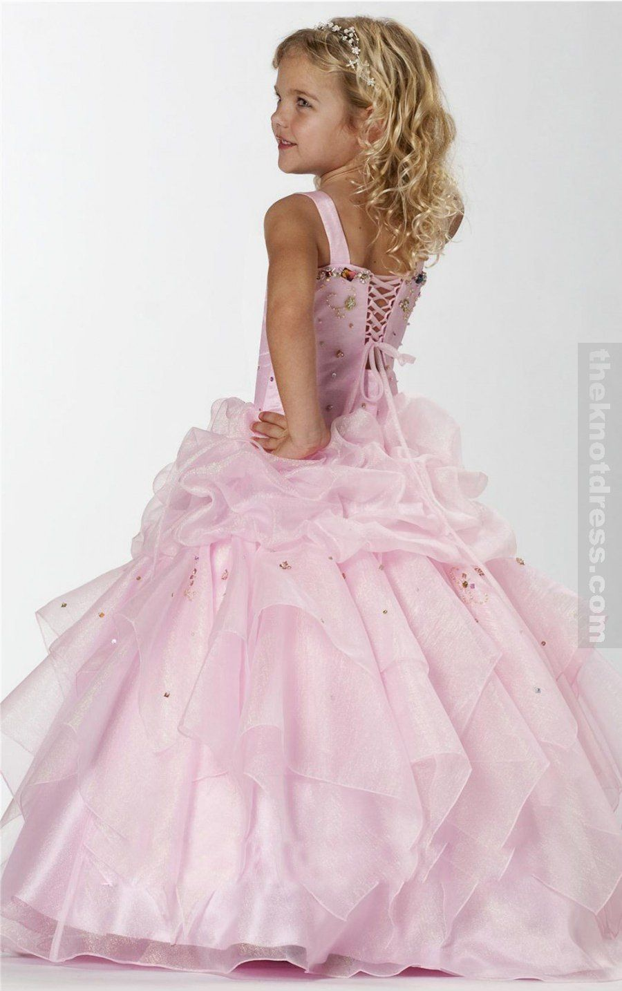 Pink princess wedding dresses pink princess floorlength spaghetti