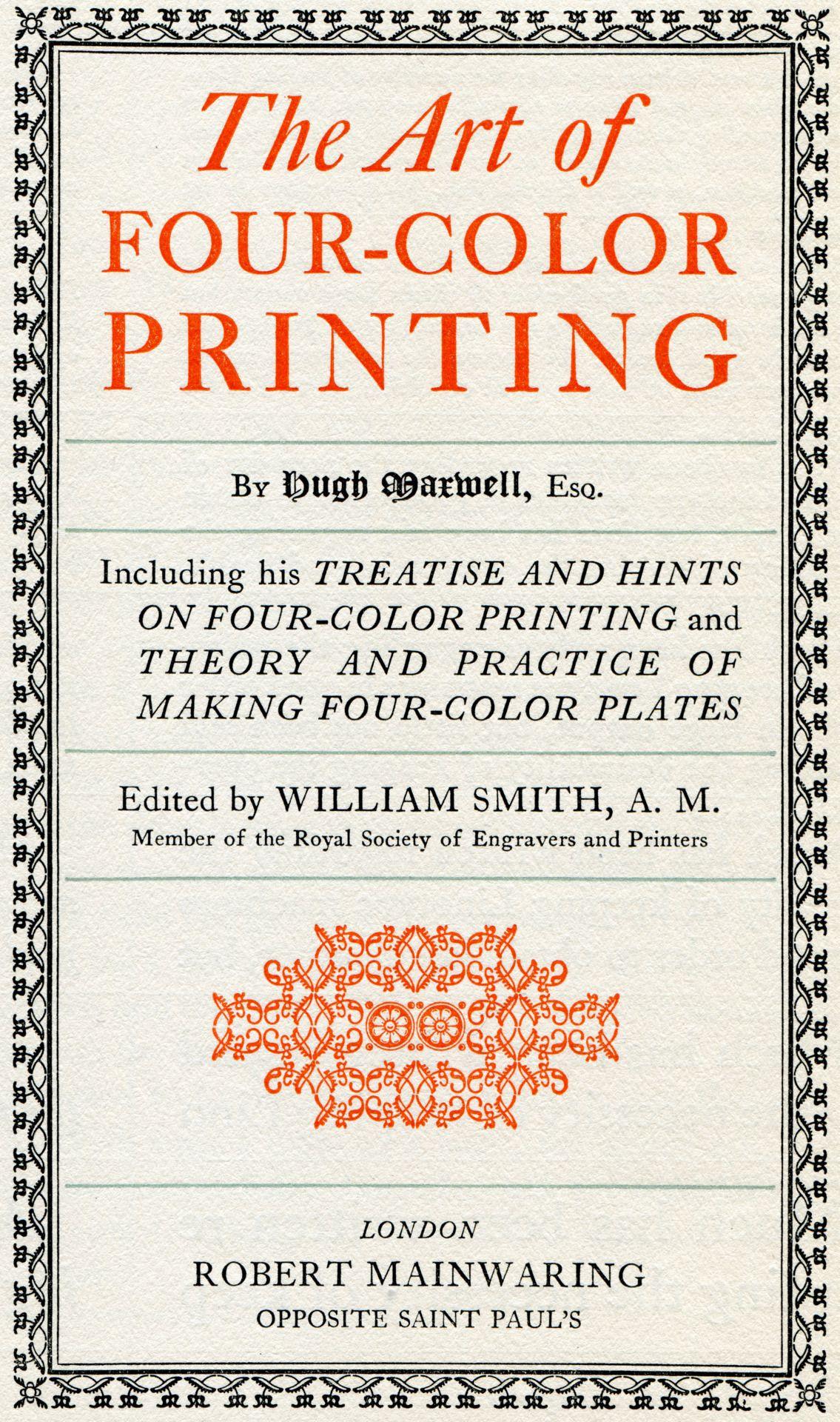 Color art tipografia - The Art Of Four Color Printing 1923
